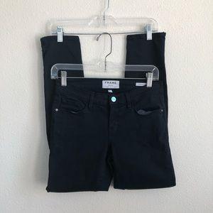 Frame denim zip ankle Jeanne skinny jeans crop